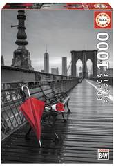 Puzzle 1000 Parapluie Rouge, Pont De Brooklyn Educa 17691
