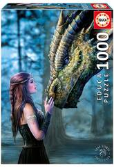 Puzzle 1000 Es war einmal... von Anne Stokes Educa 17099