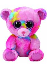 Peluche Frankie Oso Rosa Multicolor 15 Cm TY 36899TY