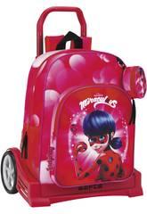 Ladybug Mochila con Carro Evolution Safta 611712860