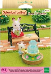 Sylvanian Families Set Bank und Brunnen Epoch Für Imagination 4535