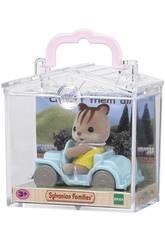 Famílias Sylvanian Carry Squirrel na época do carro para imaginar 5203