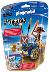 Playmobil Corsaire avec canon bleu