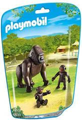 Playmobil Gorille Avec Ses Bébés