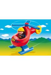 Playmobil 1.2.3 Helicoptero De Rescate