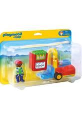 Playmobil 1,2,3 Carretilla Elevadora