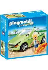 Playmobil Surfeur et Voiture Décapotable