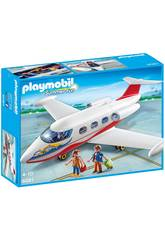 Playmobil Avion avec Pilote et Touristes