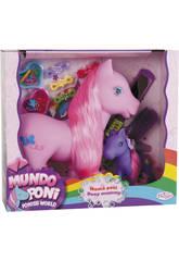 Famiglia 2 Pony Madre e Figlia con Accessori