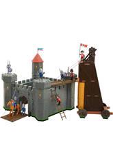 Castillo Medieval Con Torre de Asalto 34x34x35cm