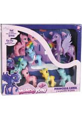 Famiglia di 6 Pony e Cavallo Alato