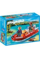 Playmobil Bote Hinchable con Exploradores 5559