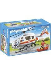 Playmobil Helicoptero Médico de Emergencia