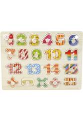 Puzzle in Legno Numeri e Segni