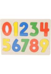 Puzzle Holz Zahlen 10 Stück 1x30x23cm