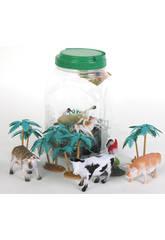 Animales Salvajes Bote 42 piezas
