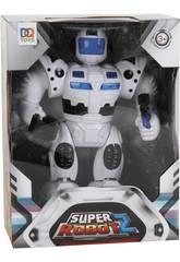 Super Robot 2 Luci e Suoni Bianco
