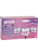 Batterie Jazz Rose 3 Tambours et Plateaux