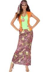 Disfraz Hippie Chica Mujer Talla S