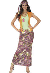 Disfraz Hippie para Mujer Talla L