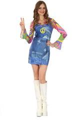 Disfraz Hippe Vaquera Mujer Talla L