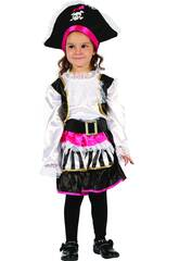 Disfraz Pirata Chica Bebé Talla S