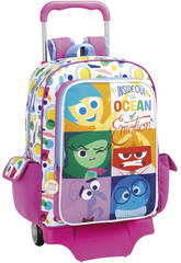 Inside Out Mochila Grande com Rodas