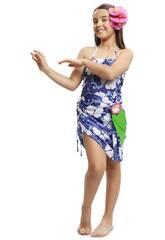 Disfraz Niña L Princesa Hawaiana