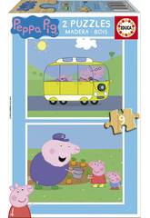 Puzzle 2X9 Peppa Pig