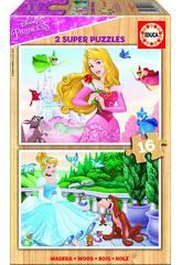 Puzzle 2x16 Princesses Disney