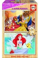 Puzzle 2x25 Princesses Disney