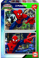 Puzzle junior 2X100 Spiderman 40x28 cm EDUCA 17171