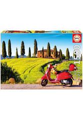 Puzzle 1500 Moto à la Toscane