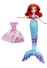 Muñeca Princesa Disney Ariel Transformación Mágica Hasbro B9145