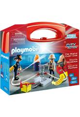 Playmobil Maletín Grande Bomberos
