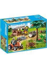 Playmobil Bûcheron Avec Tracteur