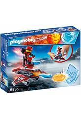 Playmobil Fire-Robot con Space-Jet Lanciadischi 6835