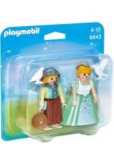 Playmobil Duopack Princesa y Granjera 6843
