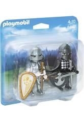Playmobil Chevalier Noir et Chevalier d'Argent 6847