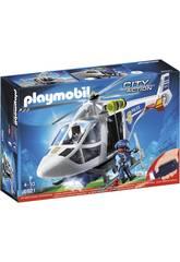 Playmobil Elicottero della Polizia con luce di avvistamento 6921
