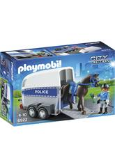 Playmobil Polícia Com Cavalo e Reboque 6922