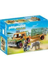 Playmobil Véhicule avec Éléphanteau et Soigneurs 6937
