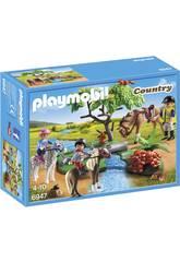 Playmobil Cavalcata di Pony nel Campo 6947