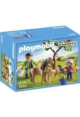Playmobil Vétérinaire avec Enfant et Poneys 6949
