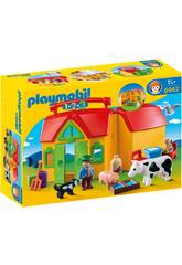 Playmobil 1,2,3 Farm Briefcase