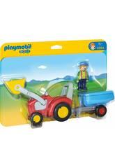Playmobil 1,2,3 Tractor con Remolque