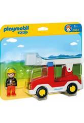 Playmobil 1,2,3 Autoscale Pompieri