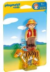 Playmobil 1, 2, 3 Dresseur avec Tigre 6976