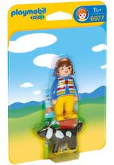 Playmobil 1,2 3 Femme avec Chien 6977