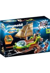 Playmobil Bateau Pirate Caméléon avec Ruby 9000